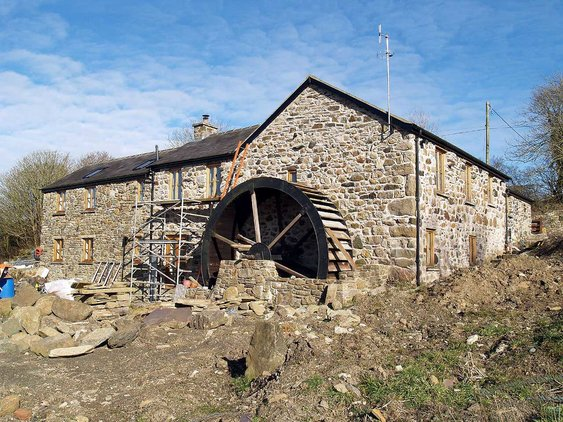 Llandyfrydog, Melin Esgob Water Mill, Working end of the Mill - BEFORE renovation
