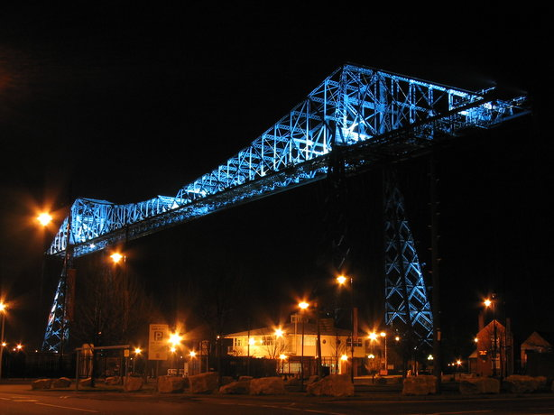 Tees Transporter Bridge - Marine Fire Station Below
