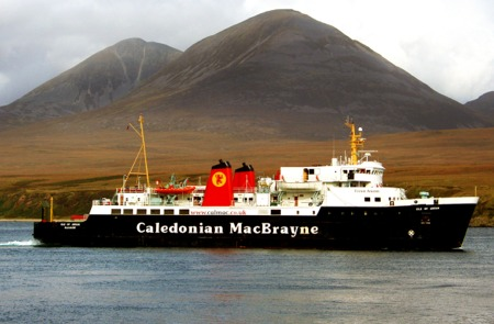 MV Isle of Arran passing the Island of Jura